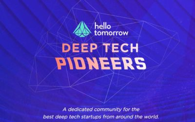 We have been selected as one of Hello Tomorrow Deep Tech Pioneers