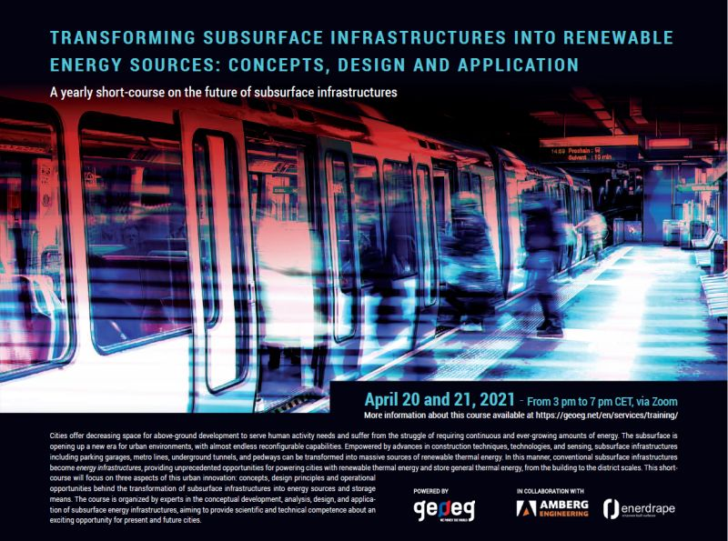 Transforming subsurface infrastructures into renewable energy sources – short course
